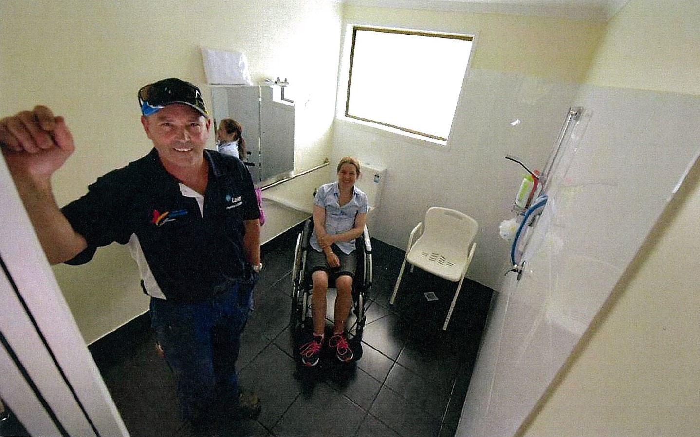 Plumber to rescue for a woman in need