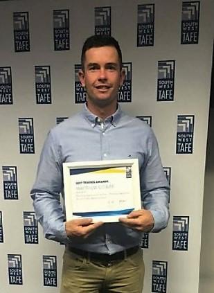 Matthew Combe's efforts awarded