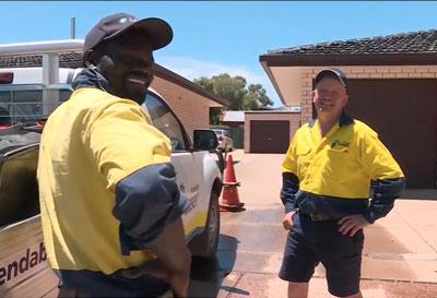 Hard at work with Laser Plumbing Wagga Wagga