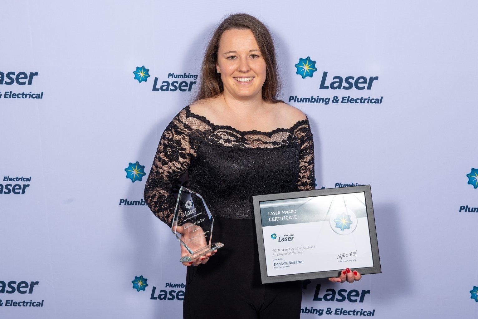 Danielle De Barro employee of the year