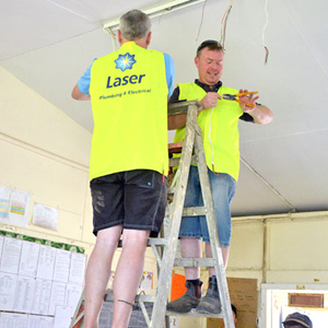 Laser Tradies Come Together for School Project